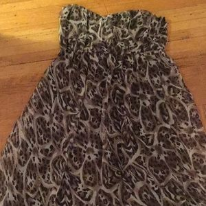 Charlotte Russe animal print strapless maxi Large